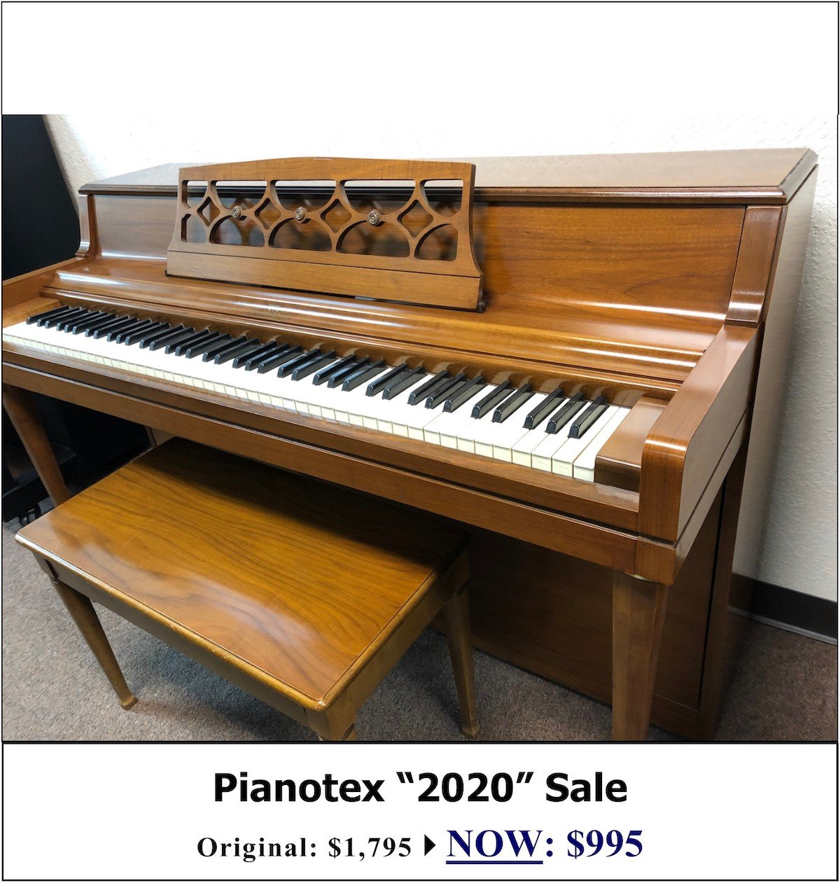 1966 Wurlitzer Spinet Upright Piano for sale